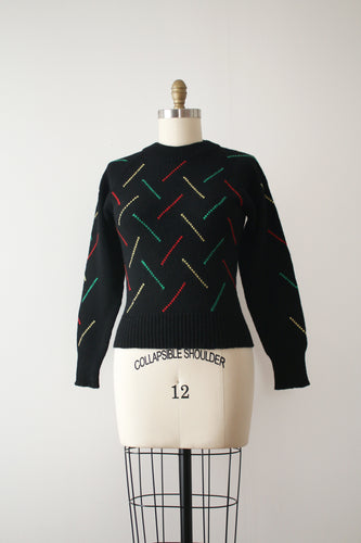vintage 1950s knit pullover sweater