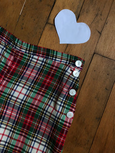 vintage 1940s plaid shorts