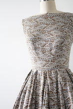 Load image into Gallery viewer, vintage 1950s paisley sun dress