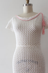 vintage 1930s crochet dress cotton