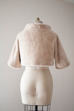 Load image into Gallery viewer, vintage 1960s cropped faux fur jacket
