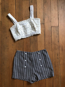 vintage 1960s striped shorts