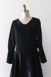 vintage 1920s black deco dress