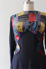 Load image into Gallery viewer, vintage 1930s devore velvet dress