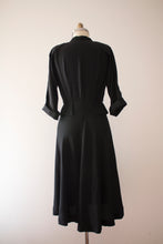 Load image into Gallery viewer, vintage 1940s black dress