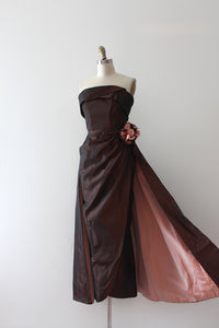 vintage 1950s Emma Domb evening dress