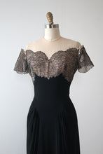 Load image into Gallery viewer, vintage 1940s Emma Domb evening gown