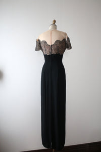 vintage 1940s Emma Domb evening gown