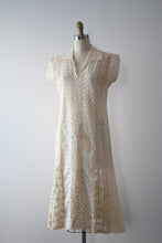 Load image into Gallery viewer, vintage 1920s eyelet dress