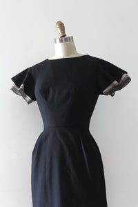 vintage 1960s unique sleeve wiggle dress
