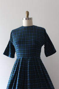 CLEARANCE vintage 1950s fleece dress