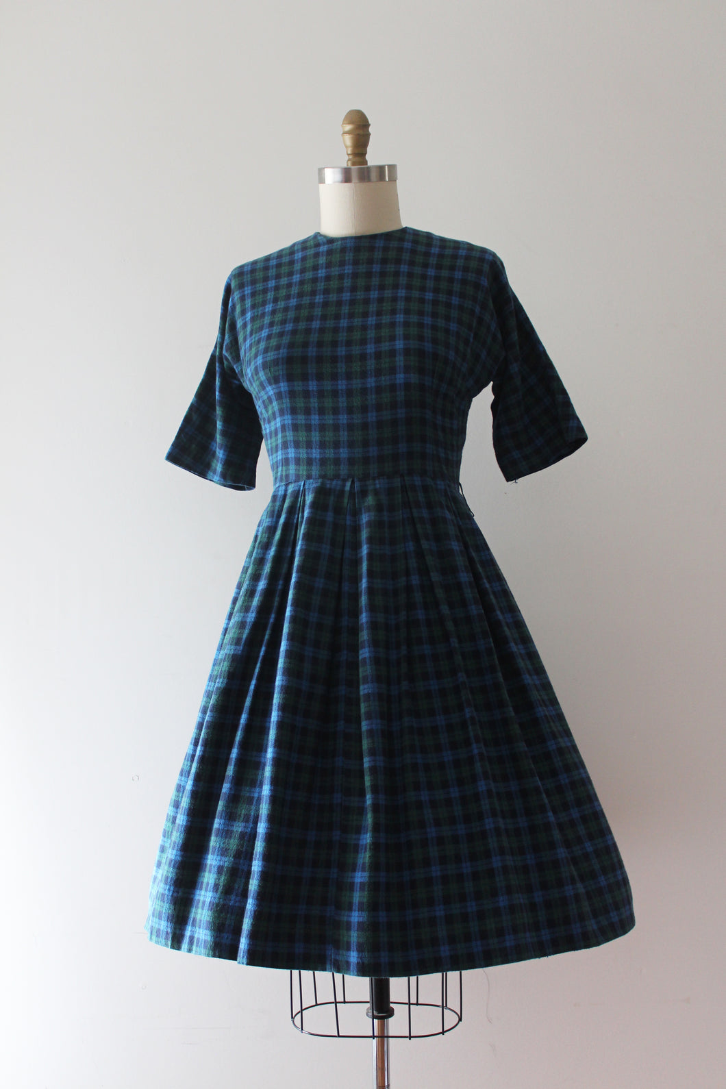 vintage 1950s fleece dress