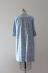 vintage 1930s 40s cotton smock dress