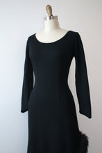 Load image into Gallery viewer, vintage 1960s black bombshell dress