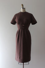 Load image into Gallery viewer, CLEARANCE vintage 1950s 60s gingham wool dress