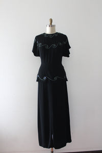 vintage 1940s Grecian gown