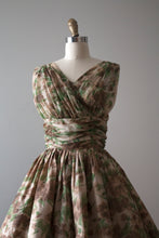 Load image into Gallery viewer, vintage 1950s chiffon dress