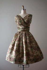 vintage 1950s chiffon dress