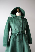 Load image into Gallery viewer, vintage 1970s hooded coat