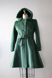 vintage 1970s hooded coat