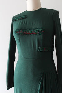 vintage 1940s green rayon dress