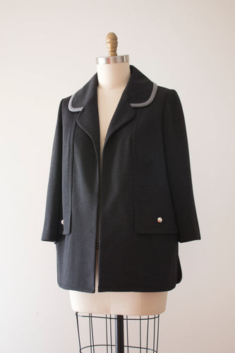 SALE vintage 1960s Lilli Ann grey coat