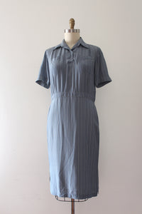 CLEARANCE vintage 1950s blue dress