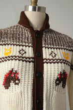 Load image into Gallery viewer, vintage 1970s knit shawl sweater