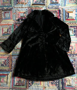 vintage 1920s faux fur coat