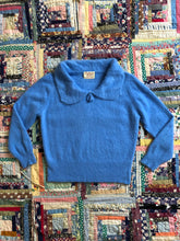 Load image into Gallery viewer, vintage 1960s blue angora sweater
