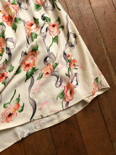 Load image into Gallery viewer, vintage 1940s rayon floral gown