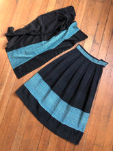 Load image into Gallery viewer, vintage 1940s 50s woven skirt