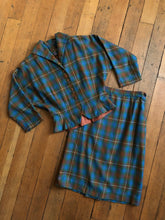 Load image into Gallery viewer, vintage 1950s plaid set