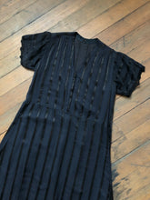Load image into Gallery viewer, vintage 1910s black dress