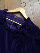 Load image into Gallery viewer, vintage 1940s purple velvet dress