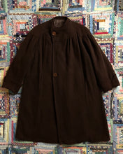 Load image into Gallery viewer, vintage 1930s 40s brown wool coat