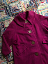 Load image into Gallery viewer, vintage 1960s pink coat