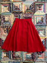 Load image into Gallery viewer, vintage 1960s red acetate skirt