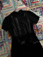 Load image into Gallery viewer, vintage 1930s black hearts dress