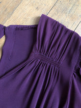 Load image into Gallery viewer, vintage 1930s purple dress