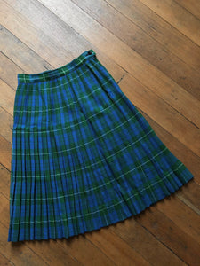 vintage 1940s plaid wool skirt