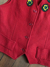 Load image into Gallery viewer, vintage 1940s red felt vest