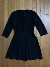 Load image into Gallery viewer, vintage 1940s black crepe dress