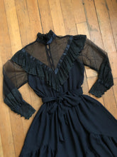 Load image into Gallery viewer, vintage 1970s Victorian Revival dress