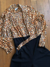 Load image into Gallery viewer, vintage 1970s Jonathan Logan leopard jumpsuit