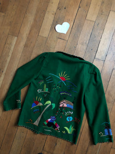 vintage 1940s Mexican embroidered jacket