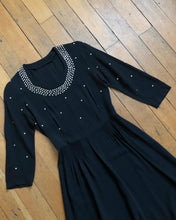 Load image into Gallery viewer, vintage 1940s star studded dress