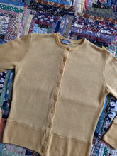 Load image into Gallery viewer, vintage 1930s 40s yellow wool sweater