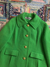 Load image into Gallery viewer, vintage 1960s lime green coat
