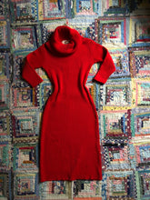 Load image into Gallery viewer, vintage 1950s Susan Small red knit dress